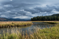 Wonderfully strange lighting and weather on Plummer Creek as it flows toward Chatcolet Lake in Northwestern Idaho on a very somber day.