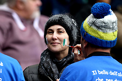 An Italy fan has their face painted - Mandatory by-line: Robbie Stephenson/JMP - 26/02/2017 - RUGBY - Twickenham Stadium - London, England - England v Italy - RBS 6 Nations round three