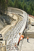 Construction for the 2010 Olympics; Whistler, British Columbia.