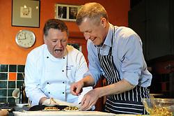 WILLIE RENNIE, UPPER LARGO, 19-4-2016<br /> <br /> Willie Rennie visited Fife food Ambassador, Christopher Trotter where he made a rhubarb tart at Buckthorns House, Upper Largo<br /> <br /> (c) David Wardle | Edinburgh Elite media