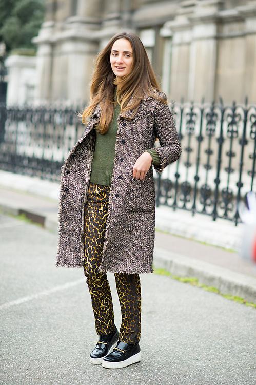 d0527f595a86 Tweed Coat and Leopard Pants at Dries van Noten   Marcy Swingle ...