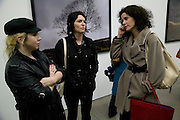 ANNE MCCLOY; SUE WEBSTER; MOLLIE DENT-BROCKLEHURST, Yes 1 No. Sam Taylor Wood. White Cube. Mason's Yard. London. 23 October 2008 *** Local Caption *** -DO NOT ARCHIVE -Copyright Photograph by Dafydd Jones. 248 Clapham Rd. London SW9 0PZ. Tel 0207 820 0771. www.dafjones.com