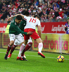 November 13, 2017 - Gdansk, Poland - Oribe Peralta and Pawel Wszolek during the international friendly soccer match between Poland and Mexico at the Energa Stadium in Gdansk, Poland on 13 November 2017  (Credit Image: © Mateusz Wlodarczyk/NurPhoto via ZUMA Press)
