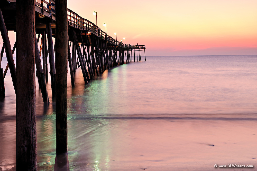 Early morning sunrise at Avalon pier, Outer Banks.