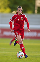 BANGOR, WALES - Thursday, May 8, 2014: Wales' Natasha Harding in action against Montenegro during the FIFA Women's World Cup Canada 2015 Qualifying Group 6 match at the Nantporth Stadium. (Pic by David Rawcliffe/Propaganda)