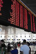 Israel, Ben Gurion International Airport, The departure lounge a flight schedule board