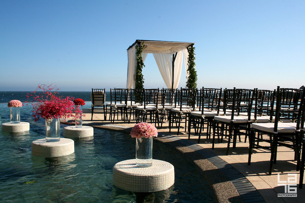 Romana Lilic from LA76 photography was hired by Capella Pedregal Resort & Residences in Cabo San Lucas to photograph a wedding venue of Mica and Greg's destination wedding in Cabo San Lucas.