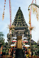 A small ornate temple near Mount Batur in northern Bali, Indonesia.
