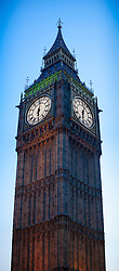 Vertical Panorama of Big Ben clock Tower