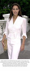 MISS JESSICA DE ROTHSCHILD daughter of Sir Evelyn de Rothschild, at a party in London on 4th July 2001.	OPY 330