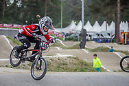 #349 (MOROT Charlotte) FRA at Round 6 of the 2018 UCI BMX Superscross World Cup in Zolder, Belgium
