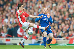 LONDON, ENGLAND - Tuesday, May 5, 2009: Arsenal's Samir Nasri and Manchester United's Wayne Rooney during the UEFA Champions League Semi-Final 2nd Leg match at the Emirates Stadium. (Photo by David Rawcliffe/Propaganda)