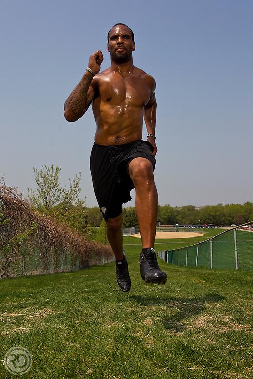 Matt Forte.for ESPN The Magazine..Photograph © Ross Dettman