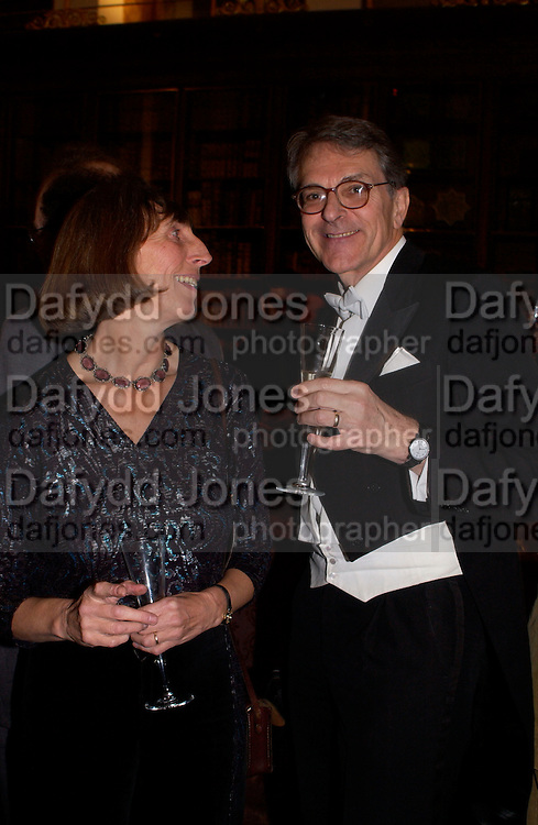 Diana Ambache and Jeremy Polmear, British Museum 250th Anniversary party, 15 December 2003. © Copyright Photograph by Dafydd Jones 66 Stockwell Park Rd. London SW9 0DA Tel 020 7733 0108 www.dafjones.com