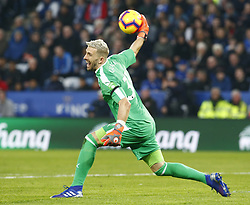 February 23, 2019 - Leicester, England, United Kingdom - Crystal Palace's Vicente Guaita.during English Premier League between Leicester City and Crystal Palace at King Power stadium , Leicester, England on 23 Feb 2019. (Credit Image: © Action Foto Sport/NurPhoto via ZUMA Press)