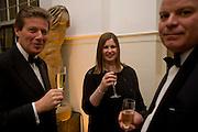 NICOLA HORLICK; NICK CRANSTON, Royal Academy Schools fundraising Annual dinner and auction. Royal academy Schools. Burlington St. London.  24 March 2009