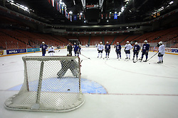 Players at practice of Slovenian national team at Hockey IIHF WC 2008 in Halifax,  on May 06, 2008 in Metro Center, Halifax, Canada.  (Photo by Vid Ponikvar / Sportal Images)