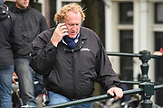 The Hitman's Bodyguard aan het filmen op de grachten in Amsterdam.<br /> <br /> he Hitman's Bodyguard filming on the canals in Amsterdam<br /> <br /> op de foto / On the photo: Gregg Powell