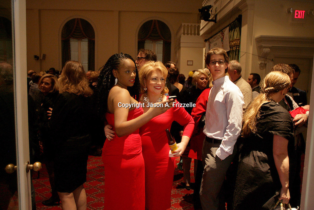Olivia James, left and Michelle Braxton pose for a picture at the Wilmington Theater Awards at Thursday January 23, 2014 at Thalian Hall. (Jason A. Frizzelle)