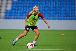 ASTANA, KAZAKHSTAN - Friday, September 15, 2017: Wales' Charlie Estcourt training at the Astana Arena ahead of the FIFA Women's World Cup 2019 Qualifying Round Group 1 match against Kazakhstan. (Pic by David Rawcliffe/Propaganda)