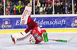 05.04.2019, Stadthalle, Klagenfurt, AUT, EBEL, EC KAC vs Moser Medical Graz 99ers, Halbfinale, 4. Spiel, im Bild Lars HAUGEN (EC KAC, #30) // during the Erste Bank Icehockey 4th semifinal match between EC KAC and Moser Medical Graz 99ers at the Stadthalle in Klagenfurt, Austria on 2019/04/05. EXPA Pictures © 2019, PhotoCredit: EXPA/ Gert Steinthaler