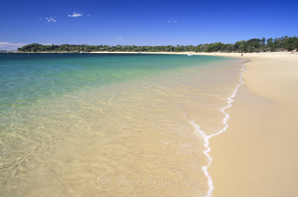 A beautiful clean beach called Jibbon Beach, Royal National Park, Australia.