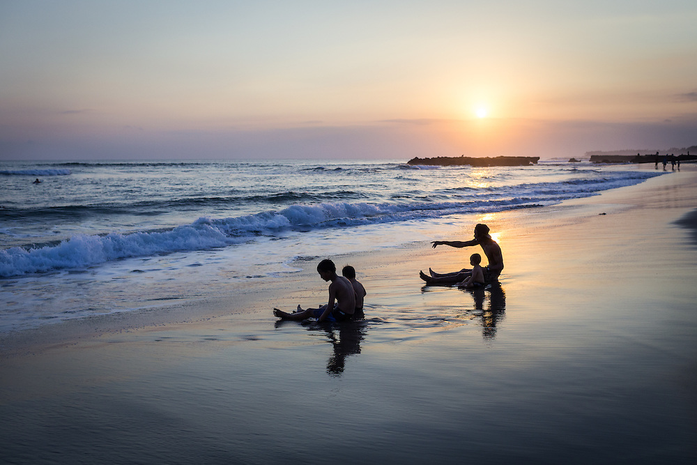 Sunset at Echo Beach, Canggu.