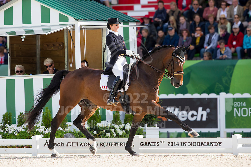 Belinda Trussel, (CAN), Anton - Grand Prix Special Dressage - Alltech FEI World Equestrian Games&trade; 2014 - Normandy, France.<br /> &copy; Hippo Foto Team - Leanjo de Koster<br /> 25/06/14