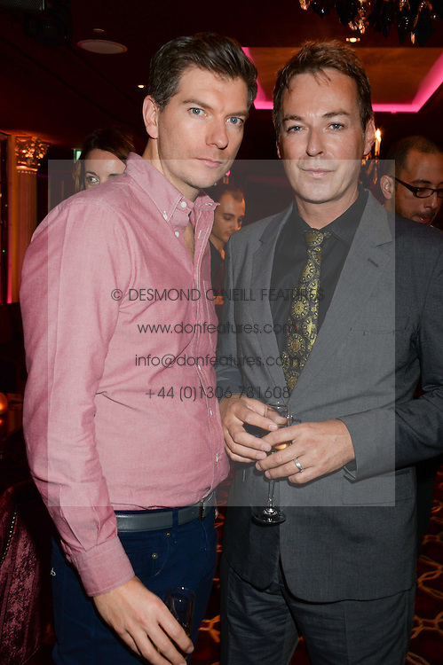 IAN MACKLEY and JULIAN CLARY at a party to celebrate the publication of 'Passion for Life' by Joan Collins held at No41 The Westbury Hotel, Mayfair, London on21st October 2013.