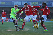 Peterbourgh Chris Forrester (8) scores a goal 1-0 second half during the EFL Sky Bet League 1 match between Swindon Town and Peterborough United at the County Ground, Swindon, England on 21 January 2017. Photo by Gary Learmonth.