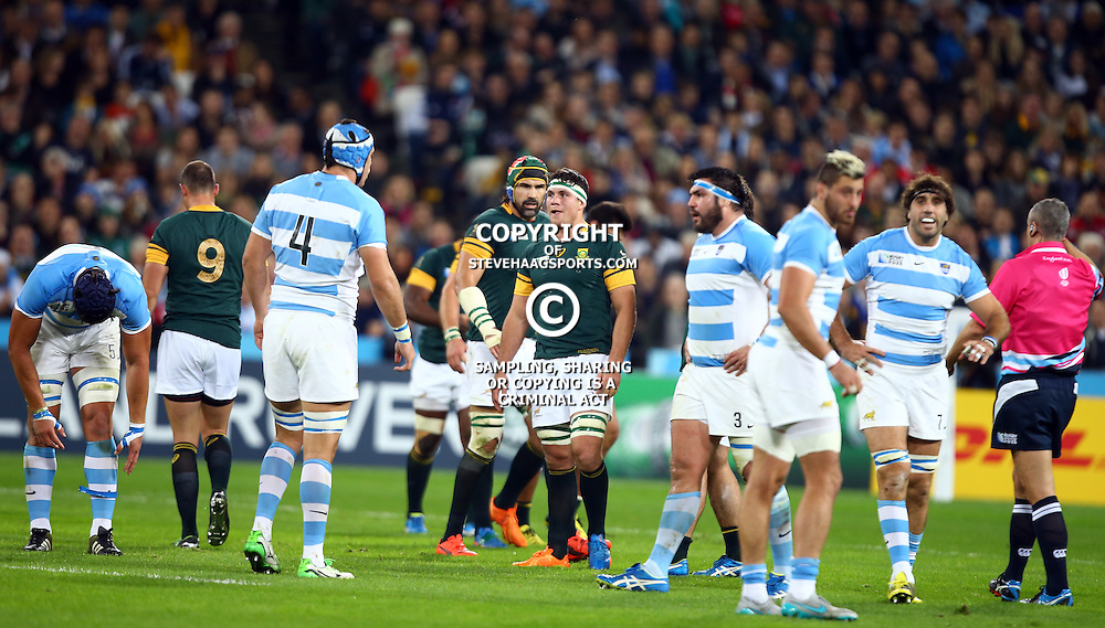 LONDON, ENGLAND - OCTOBER 30: Francois Louw of South Africa during the Rugby World Cup 3rd Place Playoff match between South Africa and Argentina at Olympic Stadium on October 30, 2015 in London, England. (Photo by Steve Haag/Gallo Images)