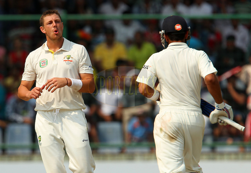 James Pattinson of Australia during day 3 of the 4th Test Match between India and Australia held at the Feroz Shah Kotla stadium in Delhi on the 24th March 2013..Photo by Ron Gaunt/BCCI/SPORTZPICS ..Use of this image is subject to the terms and conditions as outlined by the BCCI. These terms can be found by following this link:..http://www.sportzpics.co.za/image/I0000SoRagM2cIEc