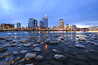 The city skyline and the Bow River from the newly restored park on St. Patricks Island<br /> <br /> &copy;2015, Sean Phillips<br /> http://www.RiverwoodPhotography.com