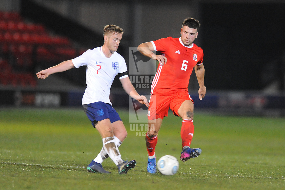 19/3/2019 - Clayton Green and Greg Olley(Gateshead) during the C International between England and Wales at the Peninsula Stadium, Salford.<br /> <br /> Pic: Mike Sheridan/County Times<br /> MS023-2019