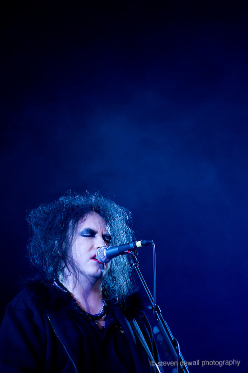 Robert Smith of The Cure performs at Coachella Music Festival in 2009.