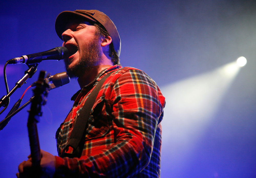Modest Mouse frontman Isaac Brock performs at the Hollywood Palladium on Tuesday, Feb. 24, 2009. (Jason Redmond Photo)