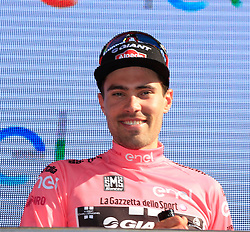 Tom Dumoulin (NED) Team Giant-Alpecin retains the leader's Maglia Rosa at the end of Stage 2 of the 2016 Giro d'Italia running 190km from Arnhem to Nijmegen, , The Nethrerlands. 7th May 2016.<br /> Picture: Eoin Clarke | Newsfile<br /> <br /> <br /> All photos usage must carry mandatory copyright credit (&copy; Newsfile | Eoin Clarke)