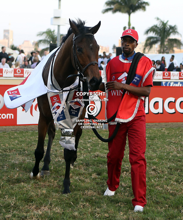 MARINARESCO winner of the July during RACE 7 THE VODACOM DURBAN JULY (Grade 1) - 2200m &ndash; R4 250 000 at THE VODACOM DURBAN JULY at Greyville Racecourse in Durban, South Africa on 1st July 2017<br /> Photo by:  Steve Haag Sports