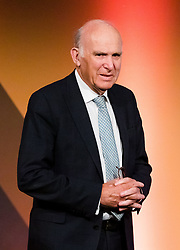 © Licensed to London News Pictures. 26/04/2019. London, UK. Liberal Democrat Leader Vince Cable arrives to speak at the Liberal Democrat party European elections campaign launch held in Tobacco Dock. Liberal Democrat party leader, Vince Cable announced Member of European Parliament (MEP) candidates for the upcoming European Parliament elections that will take place from 23rd to 26th May 2019. Photo credit: Vickie Flores/LNP.