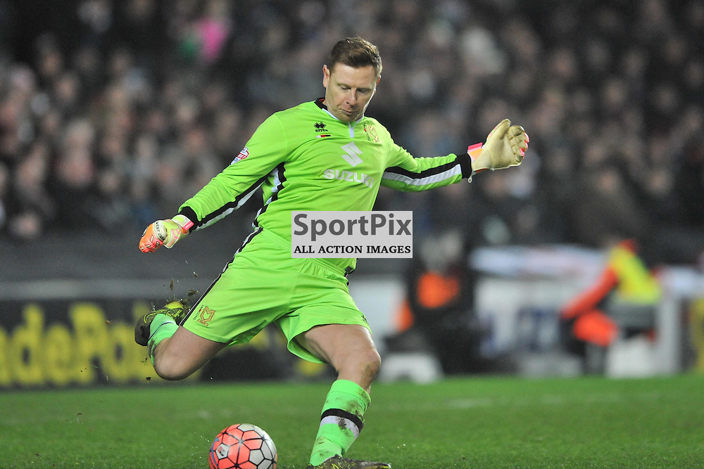 DAVID MARTIN GOALKEEPER MK DONS,  MK Dons v Northampton Town, FA Cup Emirates FA Cup Third round Repay, Stadium MK, Tuesday 19th January 2016