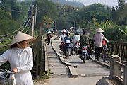 Muong Thanh Bridge across Ron river, the only one not destroyed during the battle of Dien Bien Phu.