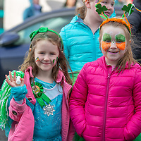 Gemma Murphy and Mia Leyden taking part in the Tulla St Patrick's Day Parade