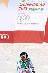 10.02.2013, Planai, Schladming, AUT, FIS Weltmeisterschaften Ski Alpin, Abfahrt, Damen, im Bild Regina Sterz (AUT) // Regina Sterz of Austria reacts after her run of womens Downhill during FIS Ski World Championships 2013 at the Planai Course, Schladming, Austria on 2013/02/10. EXPA Pictures © 2013, PhotoCredit: EXPA/ Martin Huber