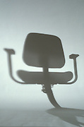 abstract shadow of desk chair