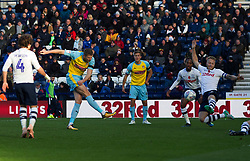 Michael Smith of Rotherham United (C) scores his sides first goal - Mandatory by-line: Jack Phillips/JMP - 27/10/2018 - FOOTBALL - Deepdale - Preston, England - Preston North End v Rotherham United - English League Championship
