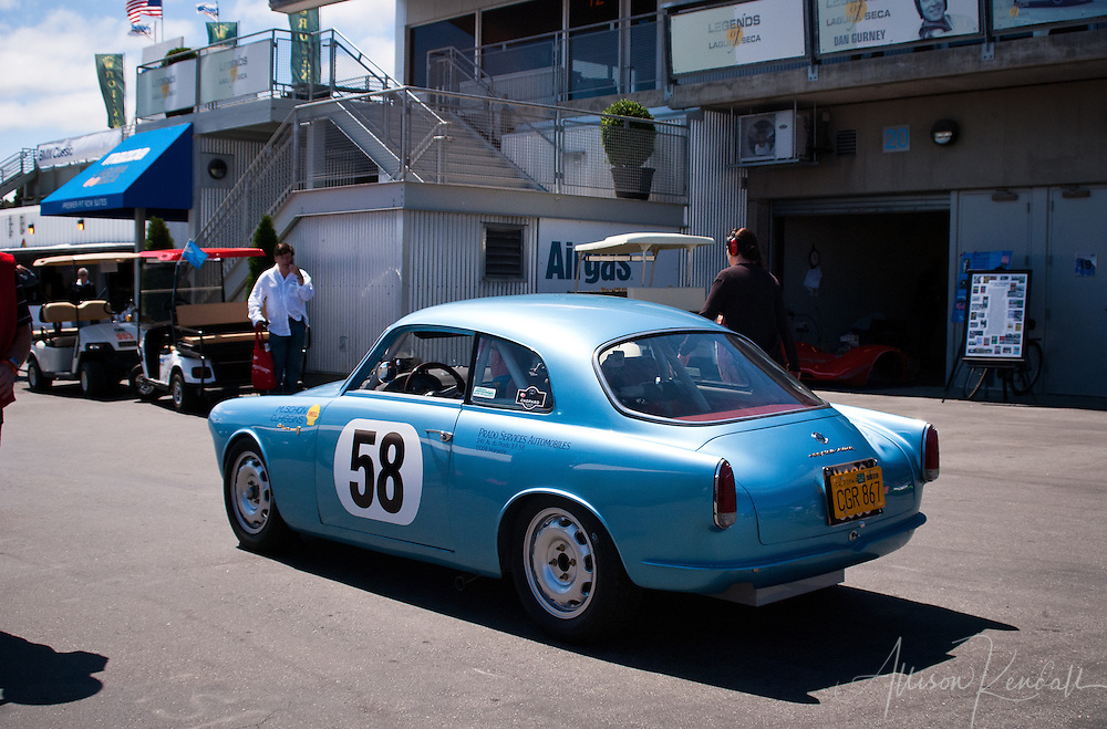 Vintage Alfa Romeo at Laguna Seca during the Reunion events of Monterey Car Week