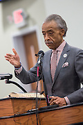Rev. Al Sharpton addresses a healing service at Charity Missionary Baptist Church April 12, 2015 in North Charleston, South Carolina. Sharpton spoke following the recent fatal shooting of unarmed motorist Walter Scott police and thanked the Mayor and Police Chief for doing the right thing in charging the officer with murder.