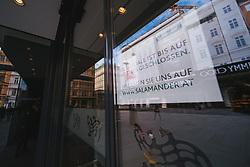 """THEMENBILD - Schilder vor geschlossenen Lokalen und Geschaeften (""""Salamander"""") in Folge des Coronavirus-Ausbruchs in Oesterreich, aufgenommen am 14.03.2020, Wien, Oesterreich // signs in front of closed bars and shops as a result of the coronavirus outbreak in Austria, Vienna, Austria on 2020/03/14. EXPA Pictures © 2020, PhotoCredit: EXPA/ Florian Schroetter"""