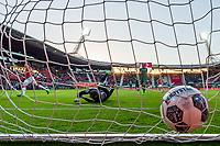 ALKMAAR ,  AZ - FC Groningen , 20-05-2017 , Afas stadion , 4-1, AZ speler Wout Weghorst scoort hier de 1-0, doelpunt