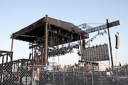 View from the back of the main Coachella stage at the 2010 Coachella Music Festival in Indio, CA on Friday, April 16, 2010.